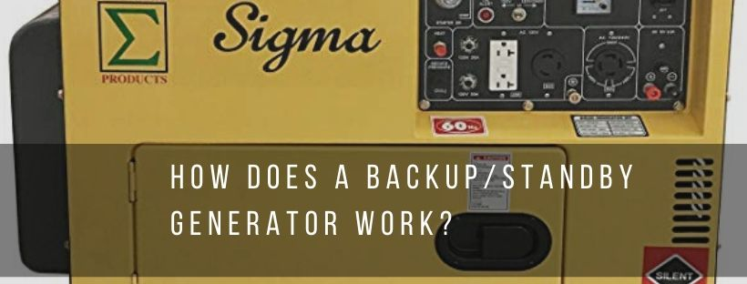 Function of a backup or standby generator