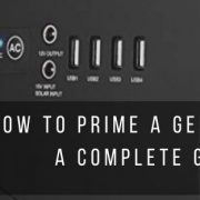 complete guide to prime a generator