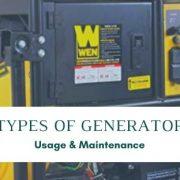Generator Types, Usage and Maintenance