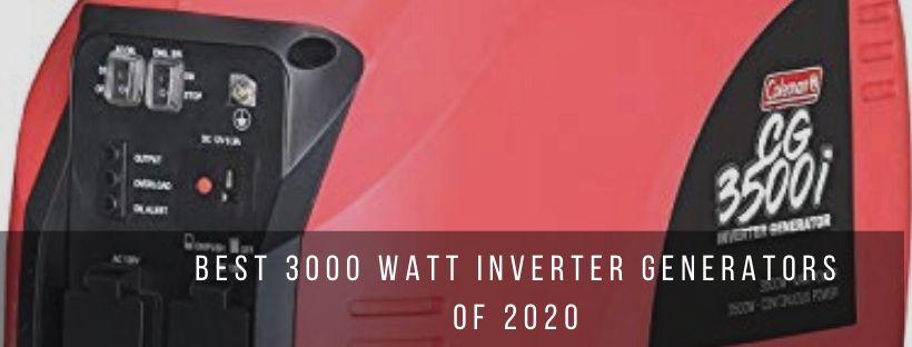 Top 7 Best 3000 Watt Inverter Generators
