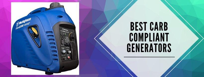 5 best portable carb compliant generators